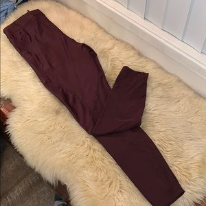 Nike Dri Fit Beautiful Wine Color Pants